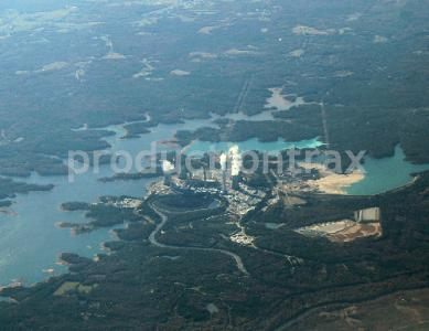 Aerial View Nuclear Power Plant
